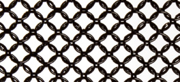 Whiting & Davis Stainless Steel Ring Mesh Color Black
