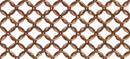 Whiting & Davis Stainless Steel Ring Mesh Color Copper