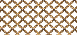Whiting & Davis Stainless Steel Ring Mesh Color Gold